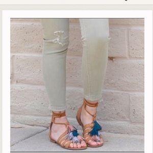 Steve Madden Monrowe gladiator sandals w/tassels
